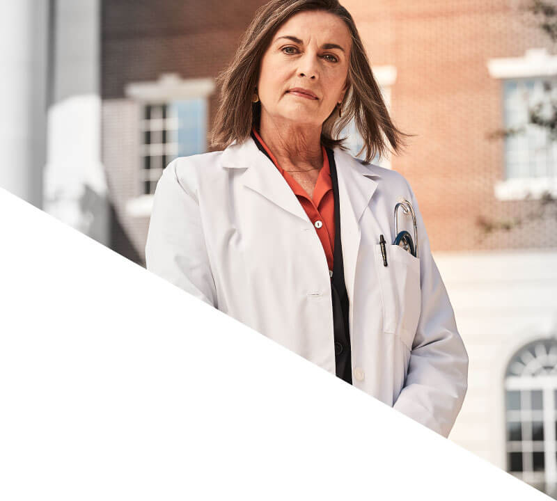 female doctor with lab coat